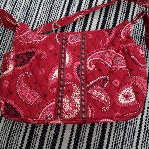 Vera Bradley handbag messa red